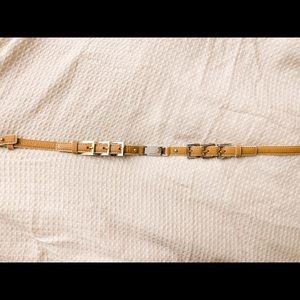 Karen Millen leather and silver belt (NWOT)